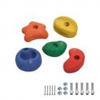 5 Prises d'escalade colorées 90 mm