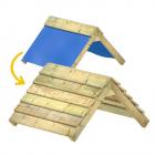 Extension de toit en bâche vers toit en bois 89